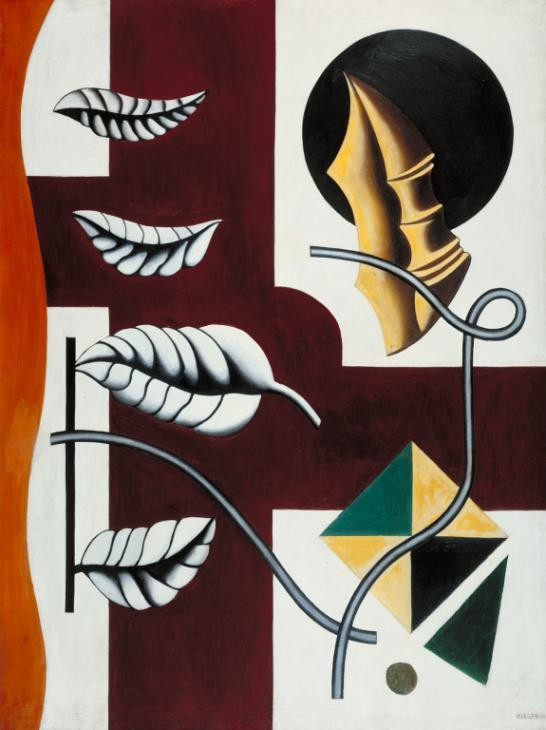 Fernand Leger Leaves and Shell 1927 N05907